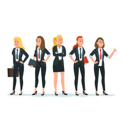 Businesswoman team female office workers vector
