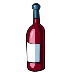 Cartoon image of wine bottle vector