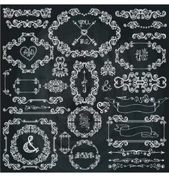 Christmas Winter swirls decorFrameBorder vector image
