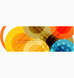 Circle composition abstract background vector