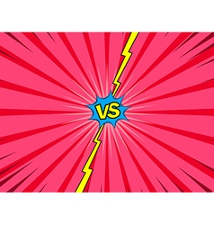 Comic versus battle intro background vector image