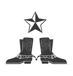 Cowboy boots wild west vector