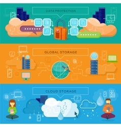 Data Protection Global Storage vector image