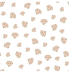 diamond seamless pattern golden hand drawn vector image