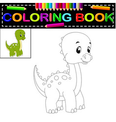 dinosaur coloring book vector image