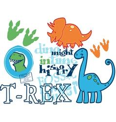 Dinosaur might vector