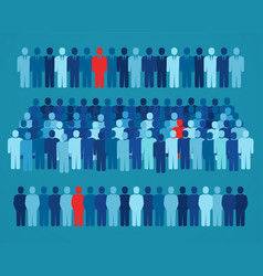 diverse crowd people standing together group vector image