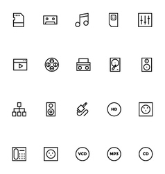 Electronics Stroke Icons 6 vector