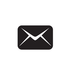 email icon in flat style for app ui websites vector image