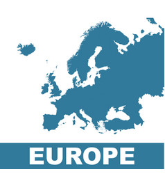 europe map flat vector image