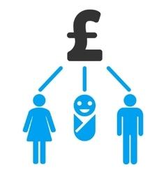 Family Pound Budget Flat Icon Symbol vector