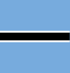 flag of botswana flag with official colors vector image