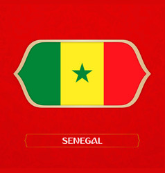 flag of senegal is made in football style vector image