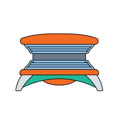 Flat design icon of solarium vector