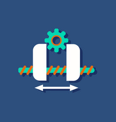 Flat icon design collection gears and wheels in vector