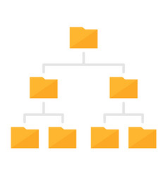 Folder hierarchy structure colored icon vector
