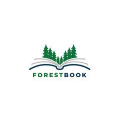 forest book logo design templa vector image