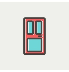 Front door thin line icon vector image