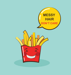 Funny potato chips character with funny quote vector