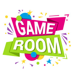 game room banner internet and gaming area vector image