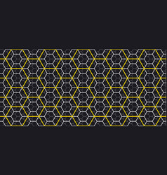 Geometry line hexagonal seamless pattern vector