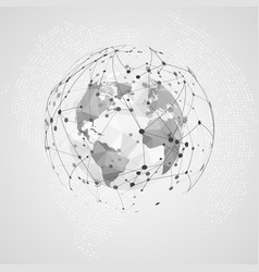 global network connection abstract digital big vector image
