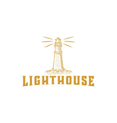 hand drawn light house designs inspiration vector image