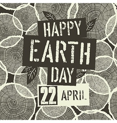 Happy Earth Day Logotype with 22 April date on vector image