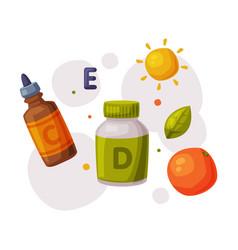 Healthy diet proper nutrition supplements vector