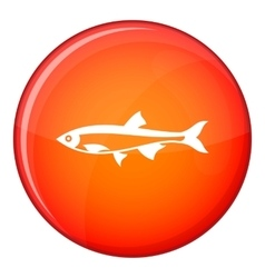 Herring fish icon flat style vector image