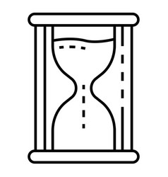 hourglass icon outline style vector image