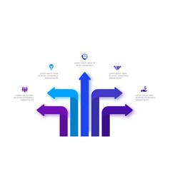Infographic arrows design template modern vector