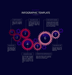 infographic template with gears 2 vector image