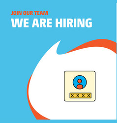 join our team busienss company user profile we vector image