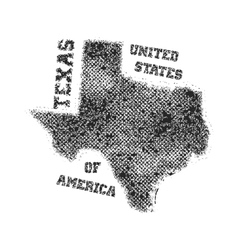 Label with map of texas vector