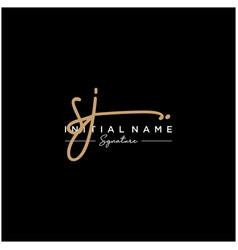 letter sj signature logo template vector image