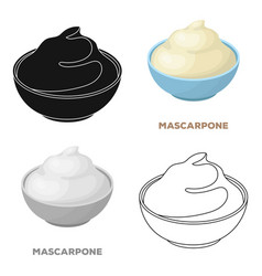Mascarponedifferent kinds of cheese single icon vector
