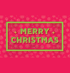 merry christmas background template with retro vector image