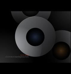 Metal gray color circular shapes vector