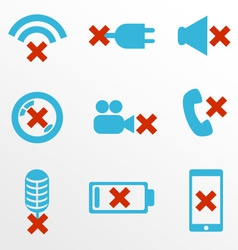 Mobile devices breakdowns icon set vector