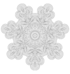 Monochrome mandala for coloring book vector image