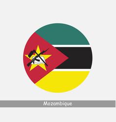 Mozambique round circle flag vector