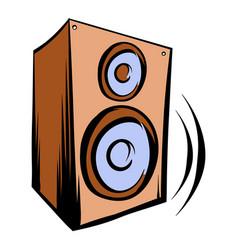 music speaker iicon cartoon vector image