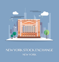 new york stock exchange vector image