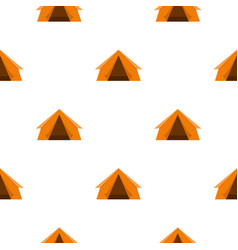 Orange touristic camping tent pattern flat vector