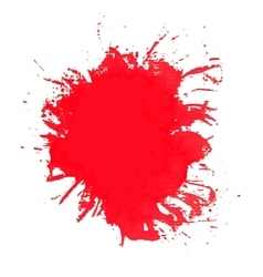 Paint splash of brush strokes vector