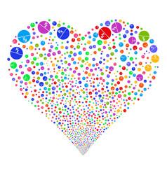 pharmacy tablet fireworks heart vector image