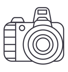 professional photo camera line icon sig vector image