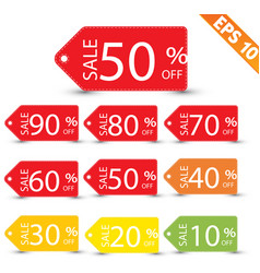 Sale tag vector
