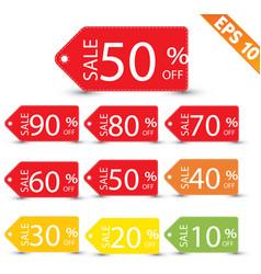 Sale tag vector